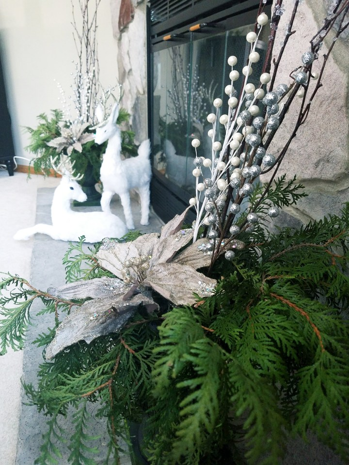 Winter Evergreen Urns